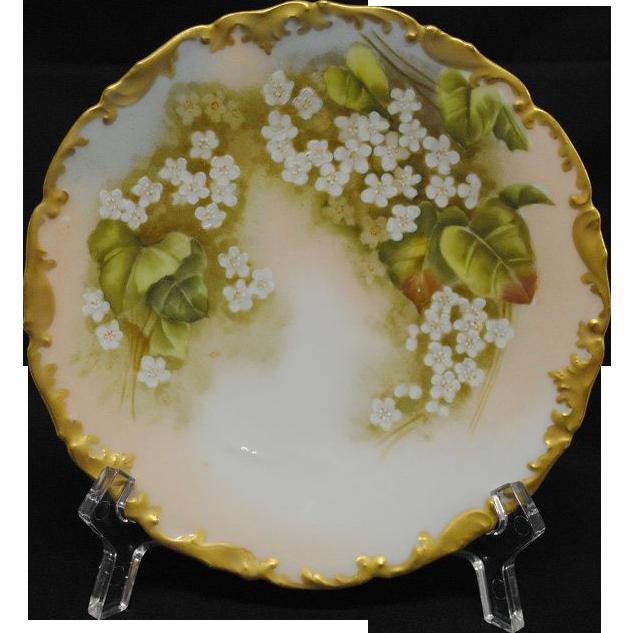 Antique Limoges Tressemann and Vogt Porcelain Dessert Plates (6)