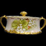 Antique Limoges Tressemann & Vogt Porcelain Biscuit Jar