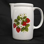 McCoy Strawberry Country Pitcher