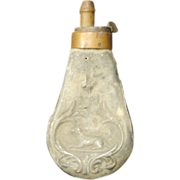 Antique Black Powder Flask from 1800's