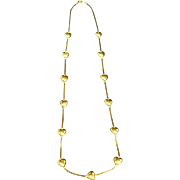 Vintage Trifari Gold Plated Heart Necklace