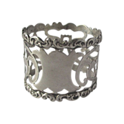 Sterling Silver Whiting Pierced Napkin Ring Plaque No Monogram