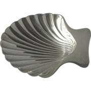 Tiffany & Co  Makers Sterling Silver Shell Nut Dish