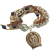 Good Luck Bracelet - Vintage Assemblage - Multi Chain OOAK - InVIntageHeaven