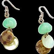 Vintage Mermaid Beach Inspired Earrings - Shell & Sea Glass Shades - InVintageHeaven