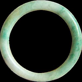 SALE Fabulous Estate Vintage Natural Jadeite Jade Bangle Bracelet 58.9 mm 33.6 g