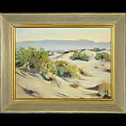 Plein Air Desert Landscape Oil Painting by California Artist Frederick Richard Chisnall