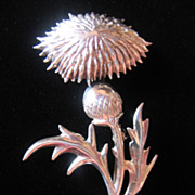 Beautiful Lang Sterling Thistle Pin -Brooch -Pendant
