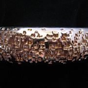 Vintage Monet Goldtone Clamper Bangle Bracelet