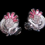 Vintage Trifari Flower Earrings