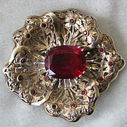 High Quality Vintage Heavy Flower Pin