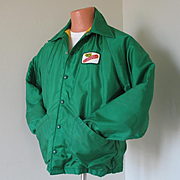 Vintage 1970s Dekalb Seed Corn Jacket with Warm Fuzzy Plush Lining M