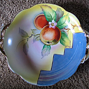 Vintage 1920s Art Deco Era Noritake Hand Painted Lustreware Fruit Bowl China Porcelain