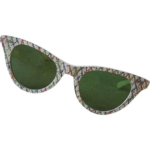 Vintage Early Cool-Ray Polaroid Sun Glasses #80 Glitter Sunglasses