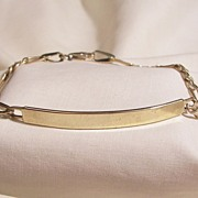 14k gold identification Figaro Link bracelet
