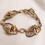 Circa 40's Stunning Deco Calla Lilly 1 20 12 KT GF Pat Carl-Art Bracelet