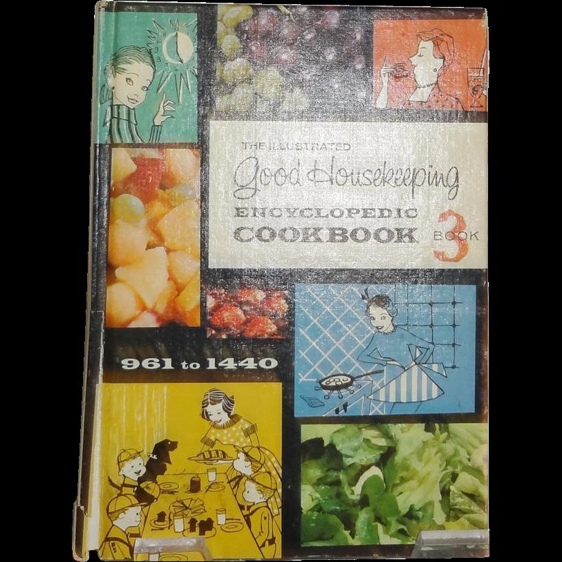 The Illustrated Good Housekeeping Encyclopedic Cookbook Book  c.1965