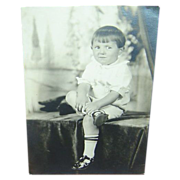 Vintage Photo of Young Boy c. 1900
