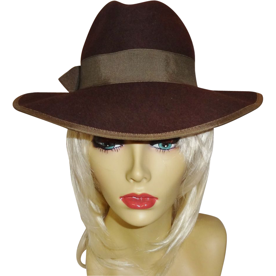 Rich Brown 100% Wool Hat by Betmar New York