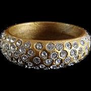Vintage Rhinestone Encrusted Bangle Bracelet
