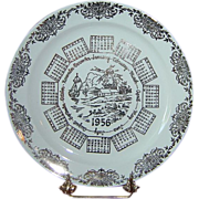 "Vintage ""1956"" Calendar Plate by Taylor, Smith & Taylor"