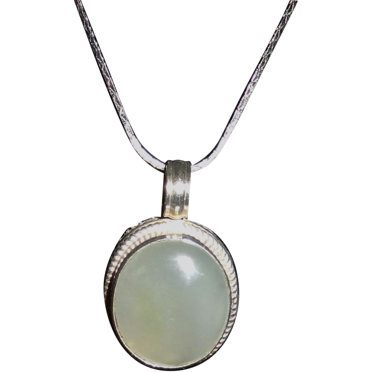 Vintage Sterling Silver and Gemstone Pendant