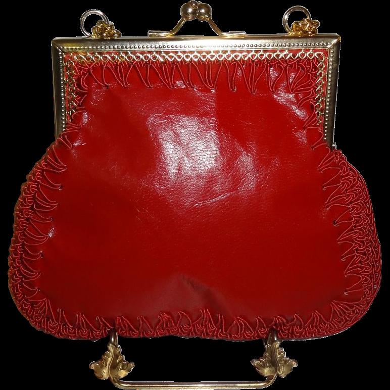 Vintage Italian Red Shoulder Bag by Mister Simon Ernest