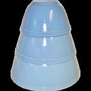 """SALE Pyrex Delphite Blue """"Bluebelle"""" Mixing Bowls"""