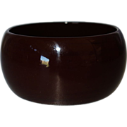 Vintage Wide Chocolate Brown Lucite Bangle Bracelet