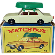 Vintage Matchbox Ford Corsair and Boat in Original Box