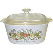 Corning Ware 3 Quart Covered Casserole in the Spice of Life Pattern