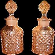 Westmoreland Pink English Hobnail Vanity Bottles
