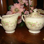 "Syracuse China ""Dearborn"" Creamer & Sugar Bowl"