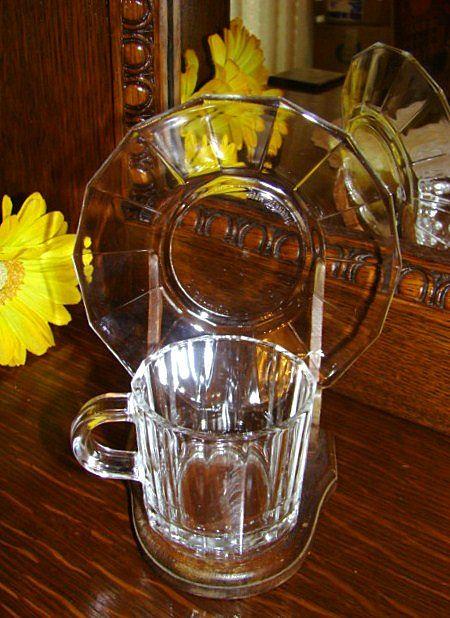 Bormoili Vitrosax Glass Demitasse Cup and Saucer ~ Italy