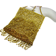 Vintage Italian Beaded Evening Bag by Designer Harry Rosenfeld