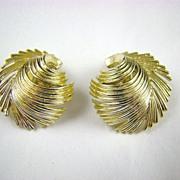 Lisner Gold Tone Fringe Earrings