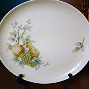 Discontinued 1960s Syracuse Carefree China Platter ~ Wayside ~ Mint