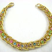 SALE Pastel Rhinestone Tennis Bracelet