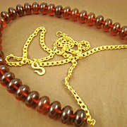 Kenneth Lane Cherry Amber Lucite Bead Belt