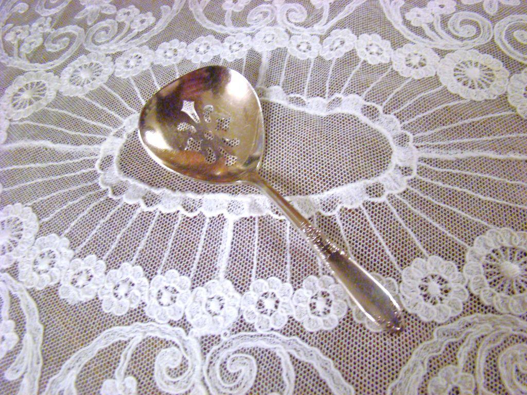 National Silver Company Nut Spoon