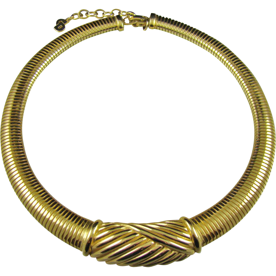 Christian Dior/Grosse Germany Magnificent Gold Plated Bib Necklace