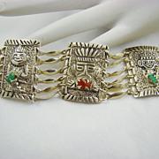 SALE 900 Silver South American Tribal Bracelet