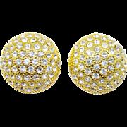 SALE Blanca Swarovski Crystal Button Earrings
