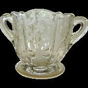 Elegant Era Cambridge Glass Elaine Sugar Bowl ~ Circa 1940