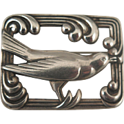 1940s Sterling Silver Norseland Bird Brooch
