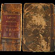 SALE 1831 book The Ladies' Pocket Magazine Vol. 2 w/ 12 Color Fashion Plates