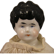 "Hertwig Whistle Head 12"" China Doll Early 1900s"