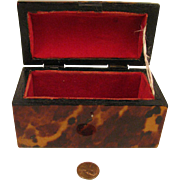"Antique Mini Trunk for Fashion Doll 2.5"" x 3"" x 5"""