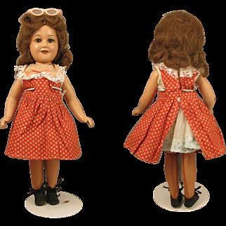 """14"""" Composition 1939-1941 Deanna Durbin Doll Mayfair Twist Waist Body"""