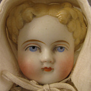 "c.1860s All Original 11"" German Bisque ABG Shoulder Head Doll"